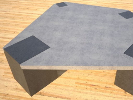 Concrete Coffee Table Irregular Top DR26