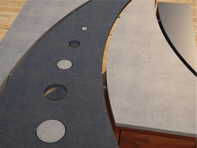 Concrete Coffee Table Geometric Series CIRCLES DR25