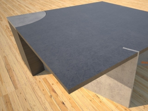 Concrete Coffee Table Slots DR24 by Designs by Rudy
