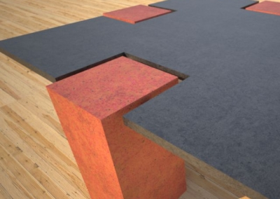 Concrete Coffee Table CROSS 2.0 by Designs by Rudy