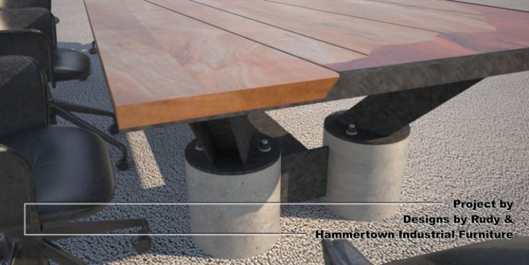boardroom-table-concrete-legs-angle-view-with-partial-top-steel-frame-solid-wood-top-designs-by-rudy