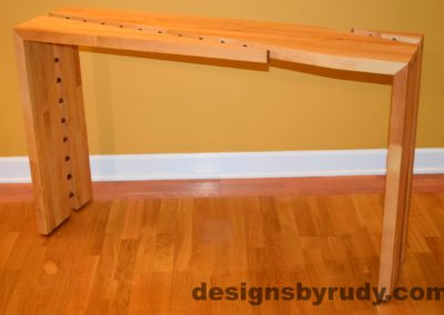 12 Butcher block console table side view 2 interior with flash Designs by Rudy