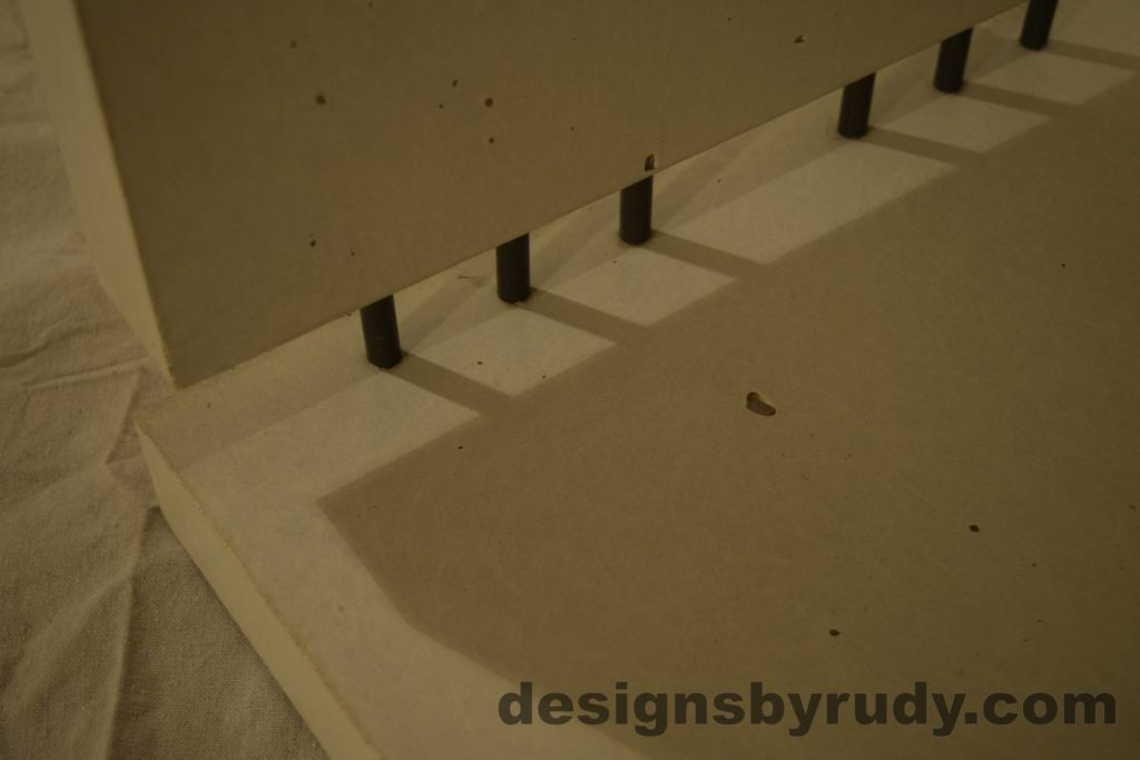 10L White Concrete Side Table DR0 interior lighting, inside view, no flash, Designs by Rudy