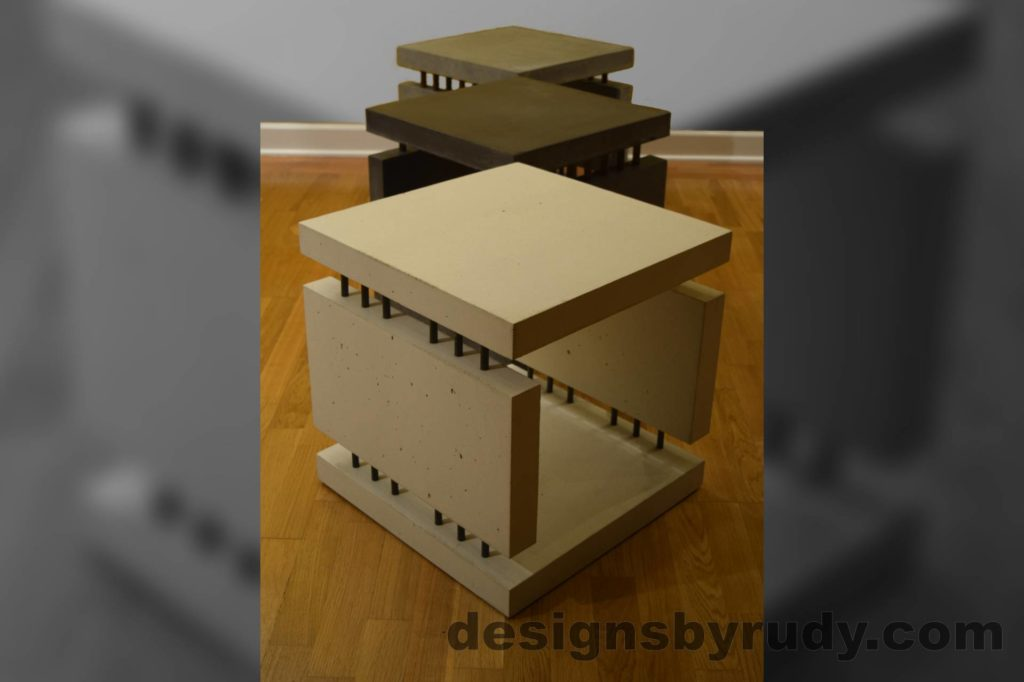 18 Concrete Side Tables DR0 3 Cubes, no flash Designs by Rudy