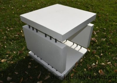 18 White Concrete Side Table DR0 natural lighting, full angle view2, Designs by Rudy