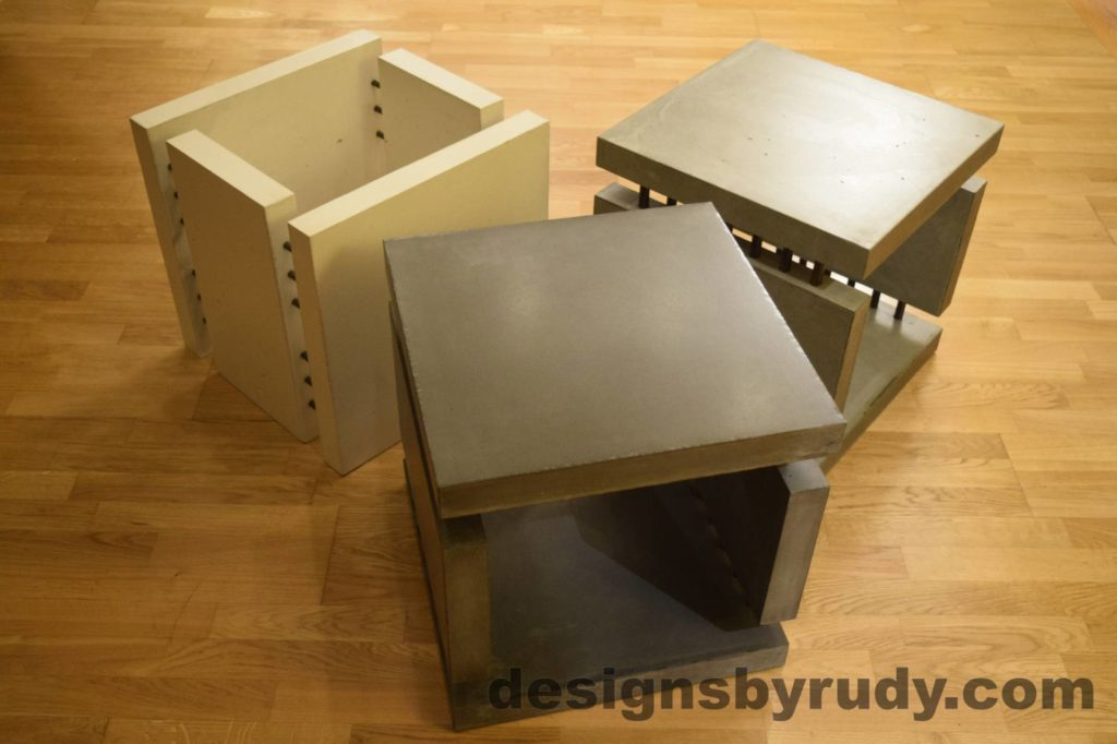 1L Concrete Side Tables DR0 3 Cubes, no flash 4 Designs by Rudy