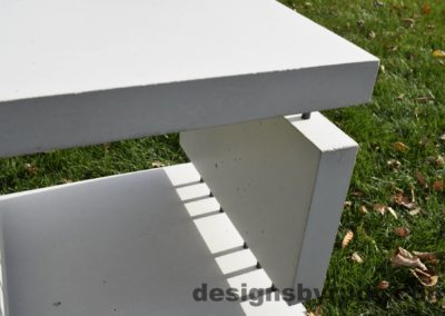 21L White Concrete Side Table DR0 natural lighting, inside view 2, Designs by Rudy