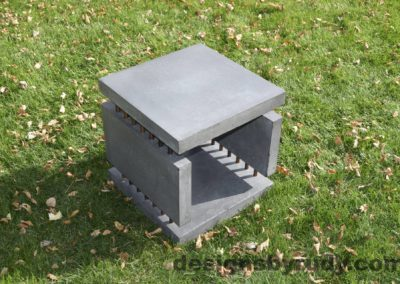 25L Gray Concrete Side Table DR0 exterior natural lighting full corner view 6, Designs by Rudy