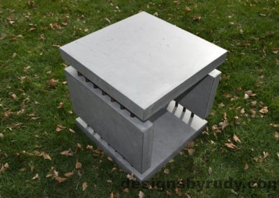 27L Gray Concrete Side Table DR0 exterior natural lighting full corner view 8, Designs by Rudy