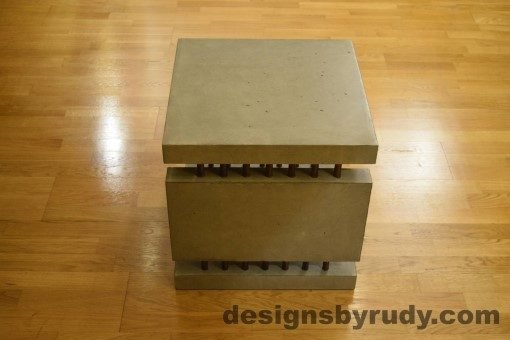 3 Gray Concrete Side Table DR0 full side view no flash, Designs by Rudy