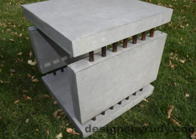 31L Gray Concrete Side Table DR0 exterior natural lighting full corner view closeup, Designs by Rudy
