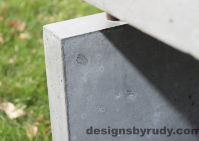 37L Gray Concrete Side Table DR0 exterior natural lighting front corner closeup view 2, Designs by Rudy