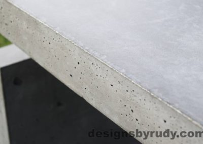 40 Gray Concrete Side Table DR0 exterior natural lighting full edge view, Designs by Rudy