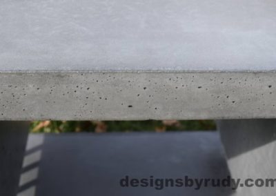 41 Gray Concrete Side Table DR0 exterior natural lighting full edge view 2, Designs by Rudy