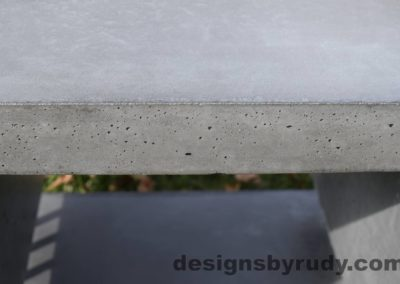 41L Gray Concrete Side Table DR0 exterior natural lighting full edge view 2, Designs by Rudy