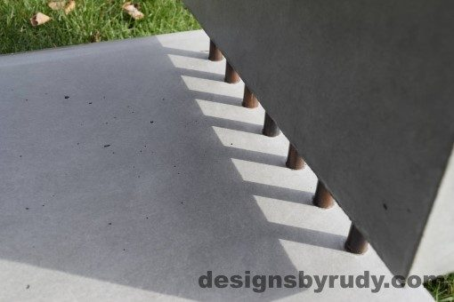 46 Gray Concrete Side Table DR0 exterior natural lighting inside view 2, Designs by Rudy