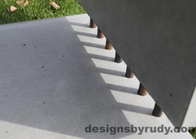 46L Gray Concrete Side Table DR0 exterior natural lighting inside view 2, Designs by Rudy