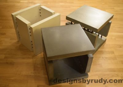 Concrete Side Tables DR0 3 Cubes, no flash 4 Designs by Rudy
