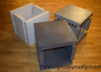 Concrete Side Tables DR0 3 Cubes, with flash 4 Designs by Rudy