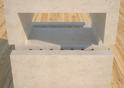 DR1 White Concrete Side Table upper section closeup, Designs by Rudy
