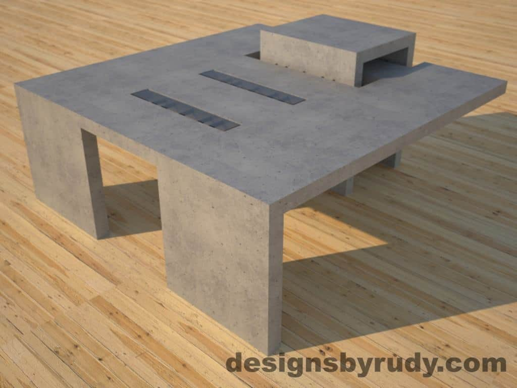 Gray Concrete Coffee Table Archive Concrete Furniture Design Chicago By Designs By Rudy