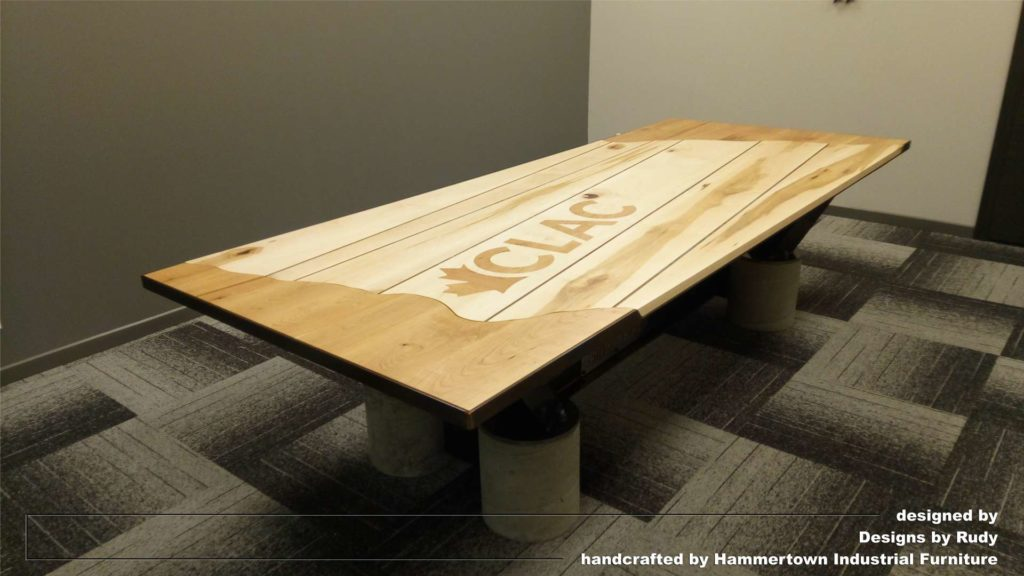 Meeting room table design, full view, Designs by Rudy