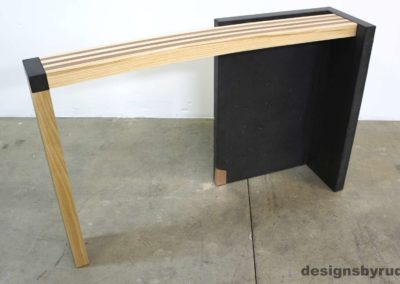 Left curve conrete console table angle front view 1, Designs by Rudy