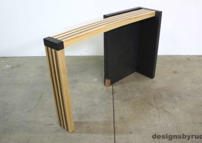 Left curve conrete console table angle front view 2, Designs by Rudy
