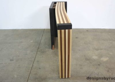 Left curve conrete console table angle front view 3, Designs by Rudy