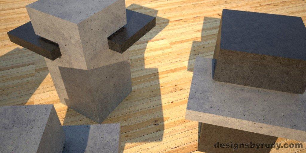Concrete Side Table DR CB1ST1 view 1