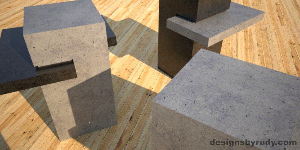 Concrete Side Table DR CB1ST1 view2