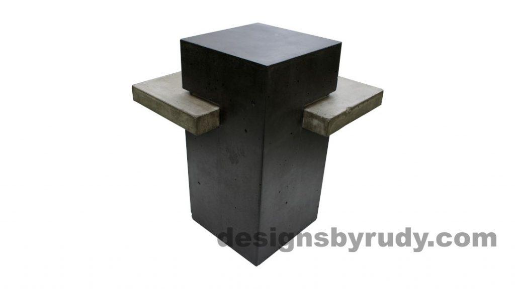 Concrete side table DR CB1ST2 rear view