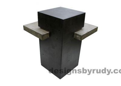 Concrete side table DR CB1ST2 rear view