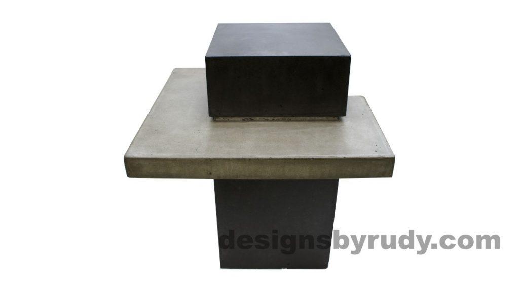Concrete side table DR CB1ST2 side view 1