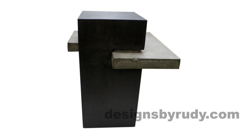 Concrete side table DR CB1ST2 side view 2