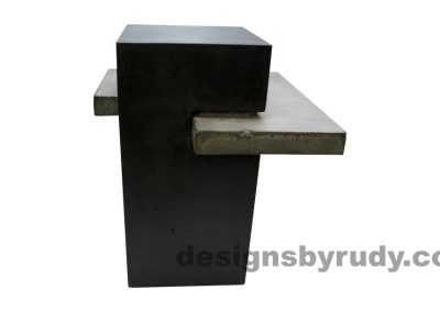 Concrete side table DR CB1ST2 side view 2