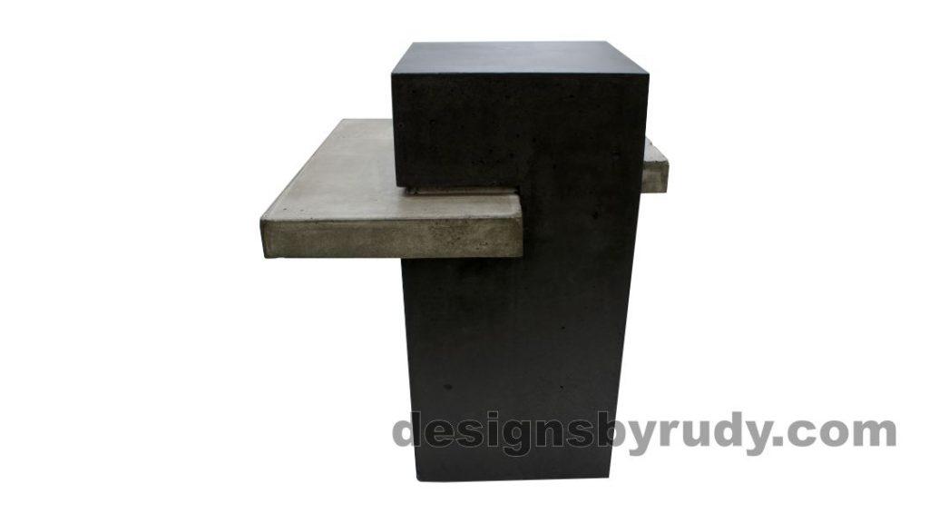 Concrete side table DR CB1ST2 side view 3