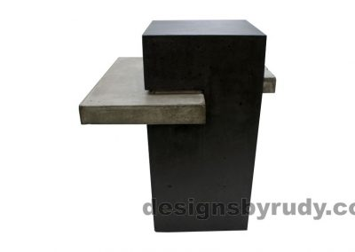 Concrete side table DR CB1ST2 side view 3
