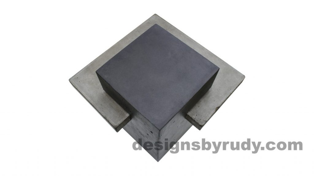 Concrete side table DR CB1ST2 top view