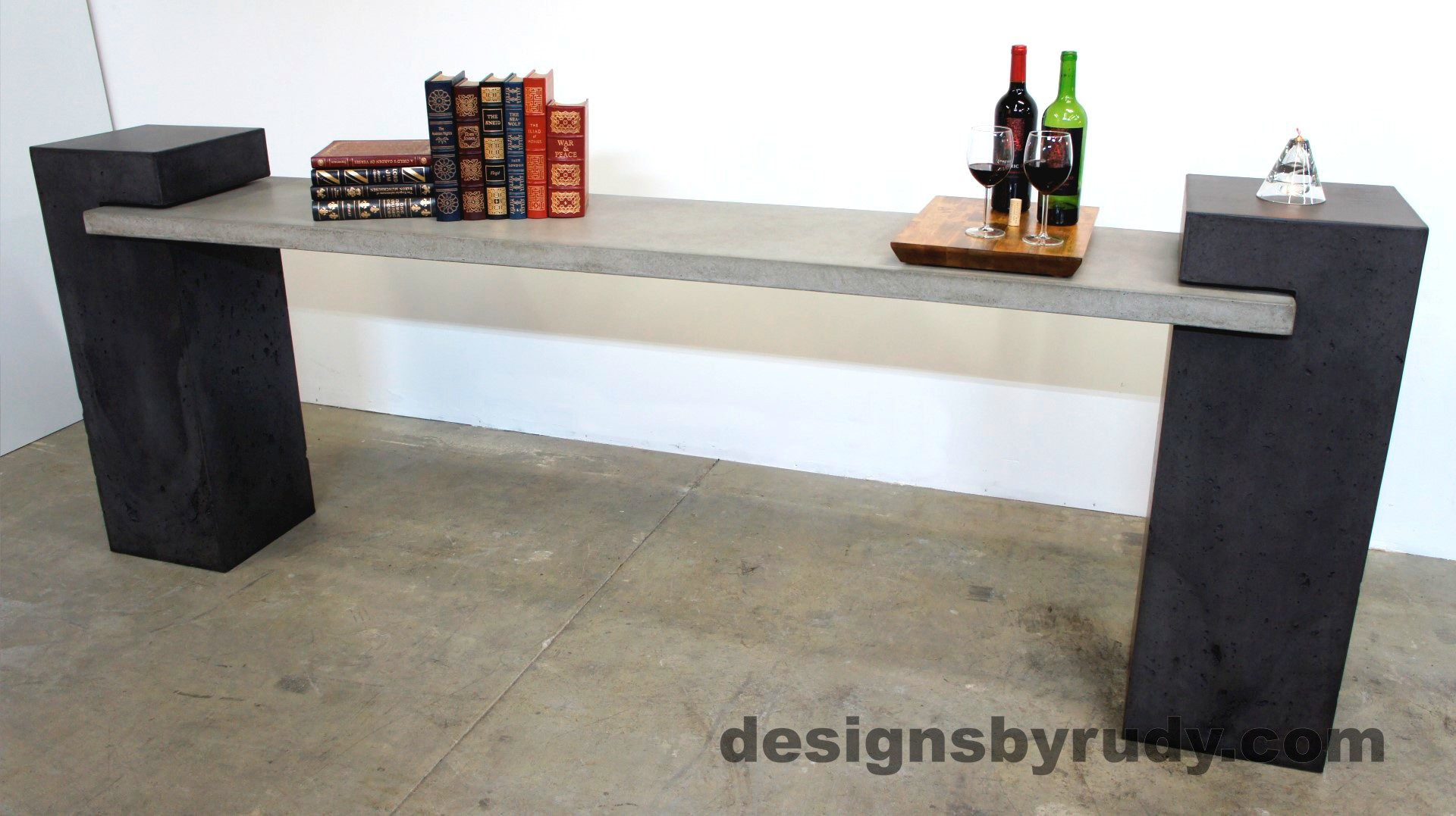 Concrete Buffet Table designed by Designs by Rudy