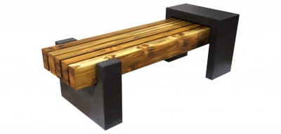 DRCB2 concrete bench with teak top thumbnail