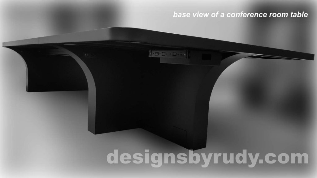Concrete and Steel Conference Room Table for Markforged finished bottom view Designs by Rudy