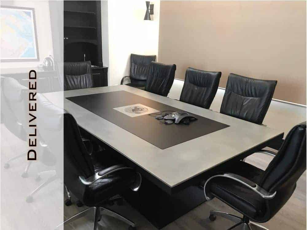 Awesome Concrete Conference Table Boardroom Tables Design