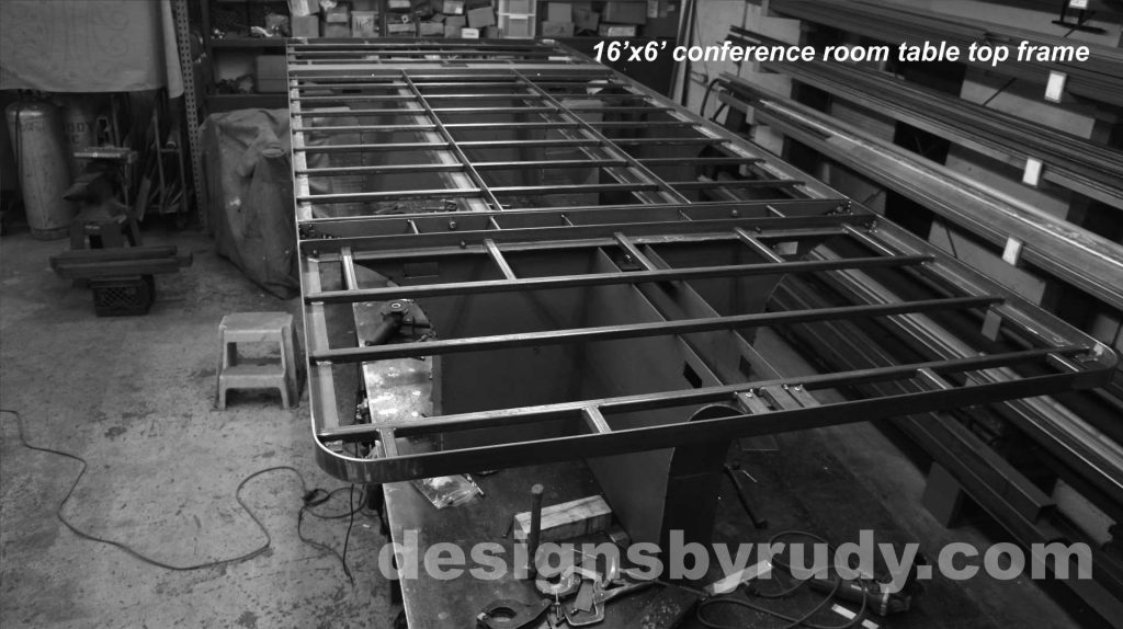 Conference room table, Designs by Rudy, table top frame