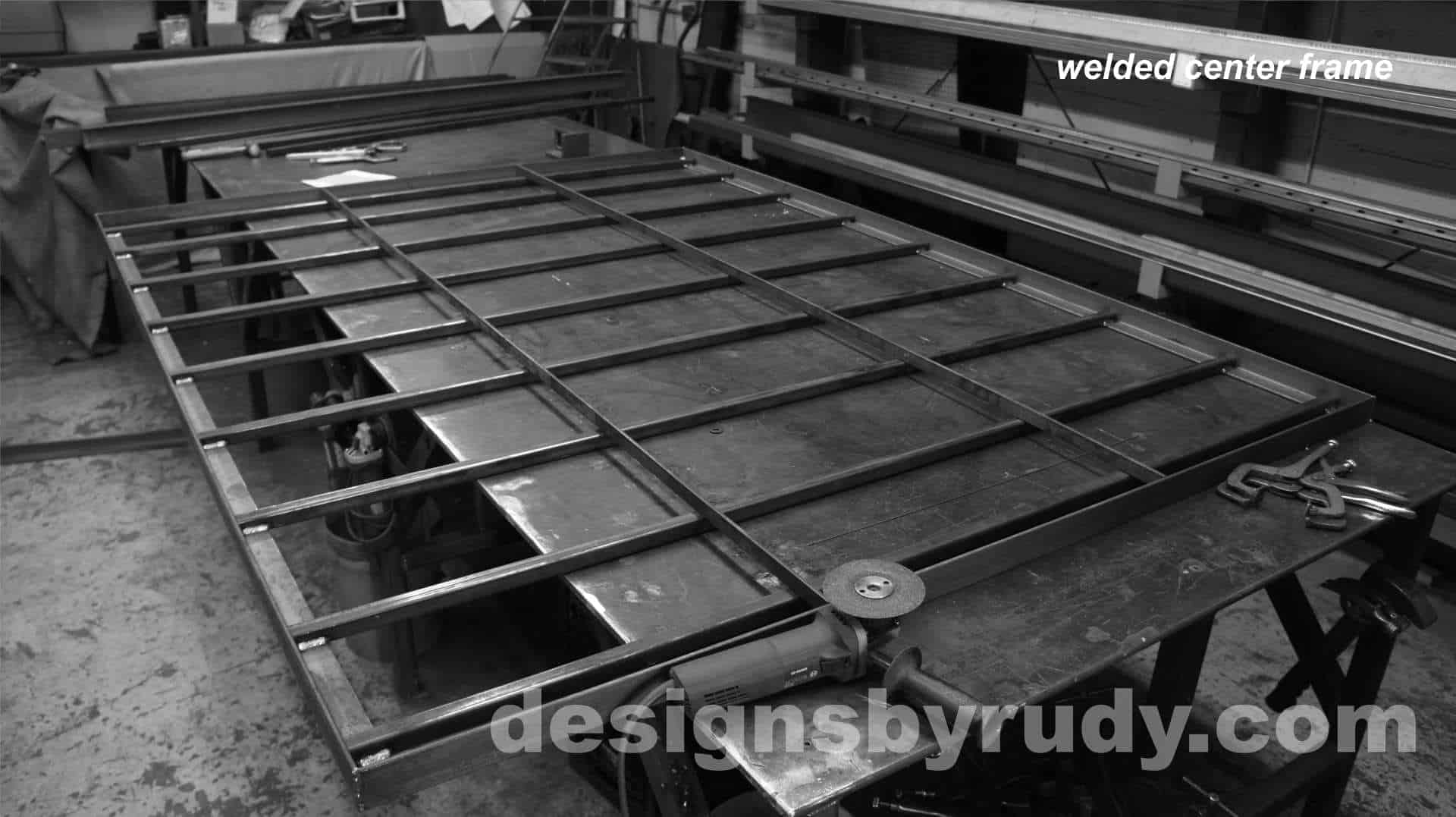 Conference room table, Designs by Rudy, welded center frame
