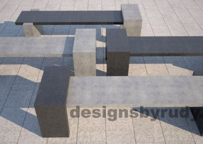 DR CB 4 Concrete bench, four color combinations 3