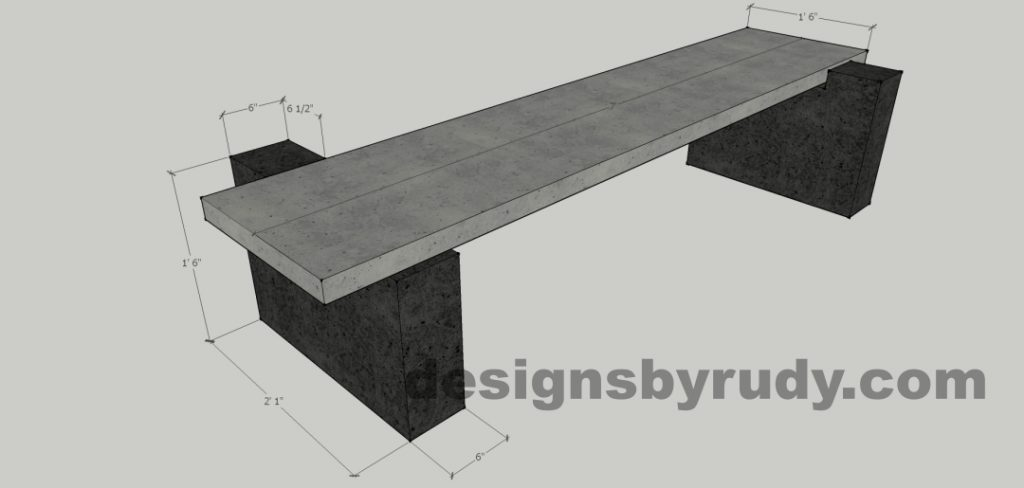 DR CB 5 bench dimensions