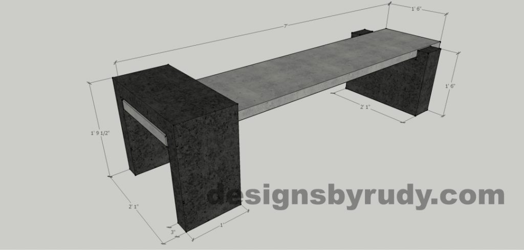 DR CB4 bench dimensions