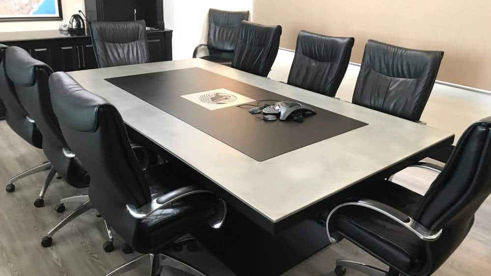 Boardroom Table Design and Fabrication for NAC, Gallery