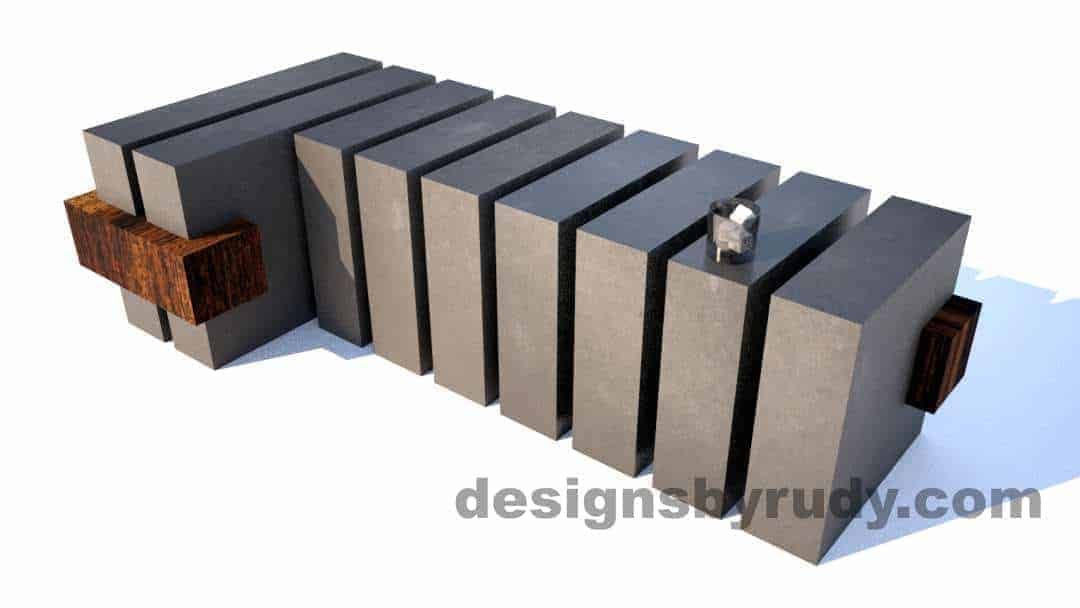 Concrete Bench by Designs by Rudy